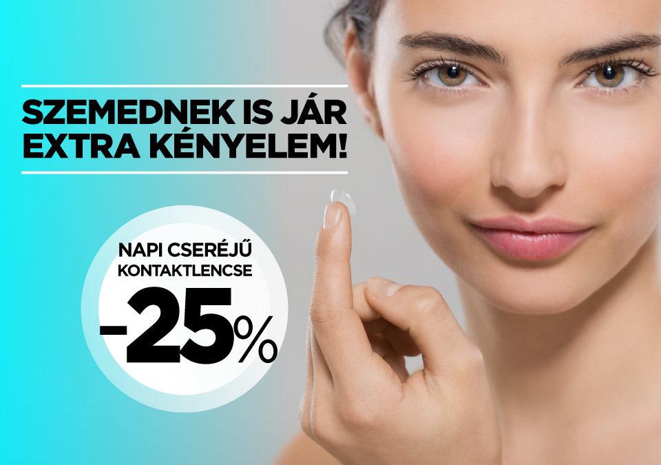 Napi cseréjű kontaktlencse -25% kedvezmény!